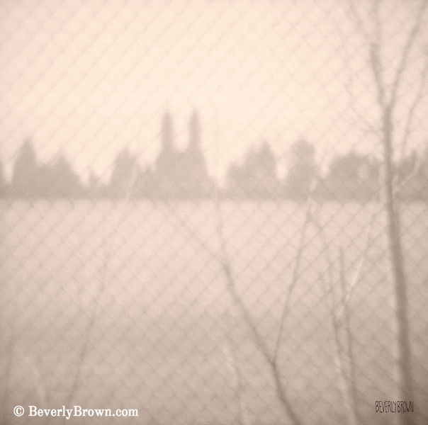 Central Park Reservoir NYC Sepia Photograph - Beverly Brown Art Prints