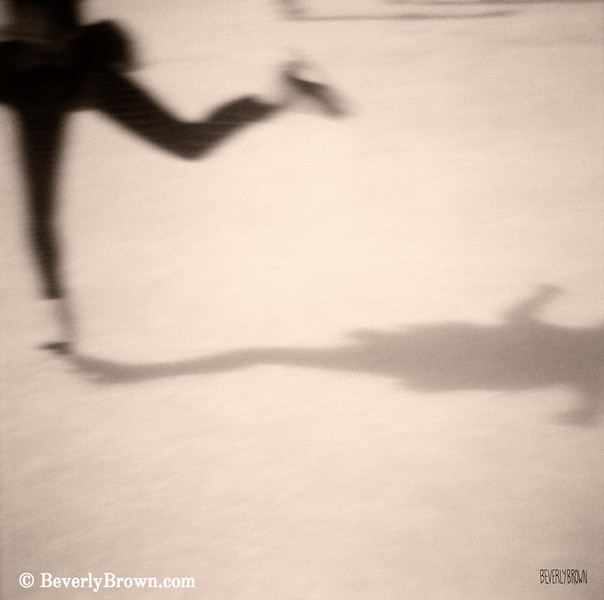 Ice Skater Sepia Photograph - Beverly Brown Art Prints