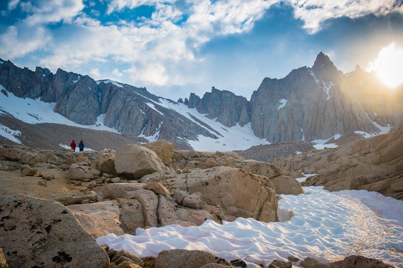 Backpackers Looking Toward Mount Whitney, 2017