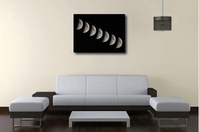Moon Set canvas print