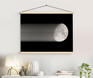 Moon Shadow retro canvas
