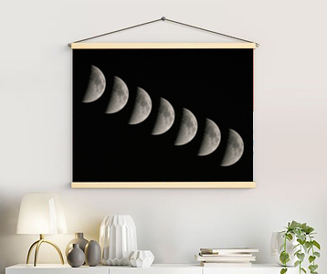 Moon Set retro canvas