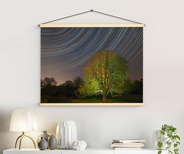 Stars & Meteor retro canvas
