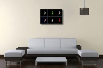 Moon art canvas print