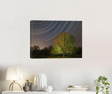 Stars & Meteor canvas print