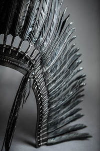 Warbonnet by Oklahoma blacksmiths Olaf Batt and Holly Fisher of Flying Anvil Forge, No.8