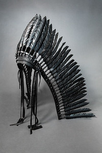 Warbonnet by Oklahoma blacksmiths Olaf Batt and Holly Fisher of Flying Anvil Forge, No.1