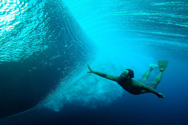 Keith Malloy and a Tahitian Barrel