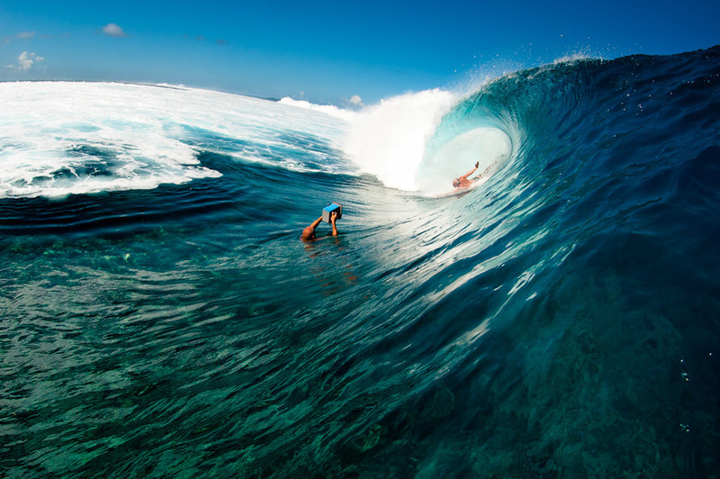Mark Cunningham and Teahupoo