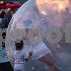 Girl in a bubble