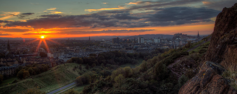 Sunset in Edinburgh 2
