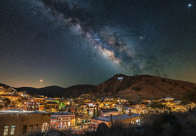 Bisbee Arizona under The Milky Way