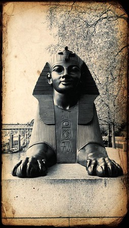 Sphinx at Cleopatra's Needle, Embankment