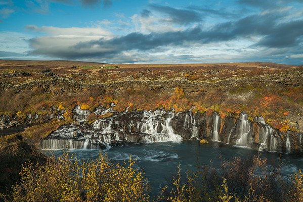 Hraunfossar in Fall