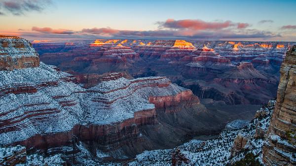 Winter Grand Canyon Sunrise