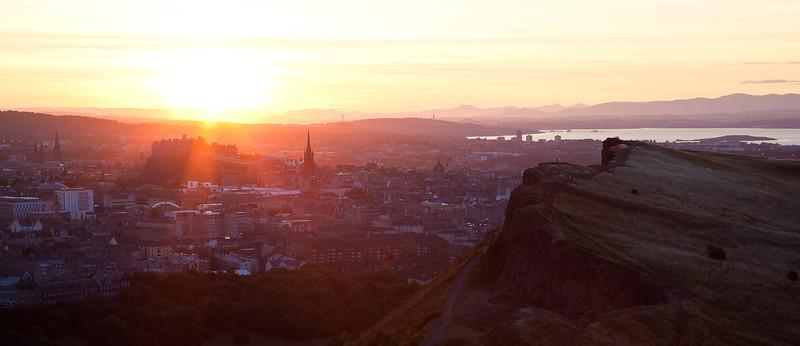 Summer Sunset over Edinburgh Castle