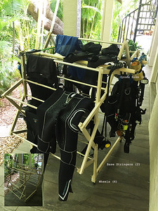 Scuba Gear Drying Rack By Applecorps