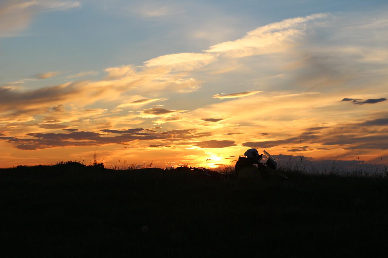 Sunset<br /> Theodore Roosevelt NP.