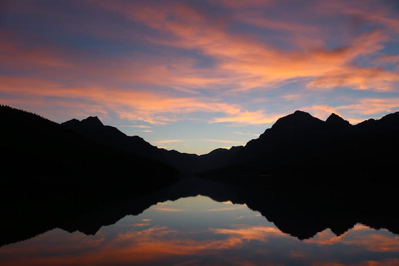 Morning on Bowman Lake 2<br /> Glacier NP.