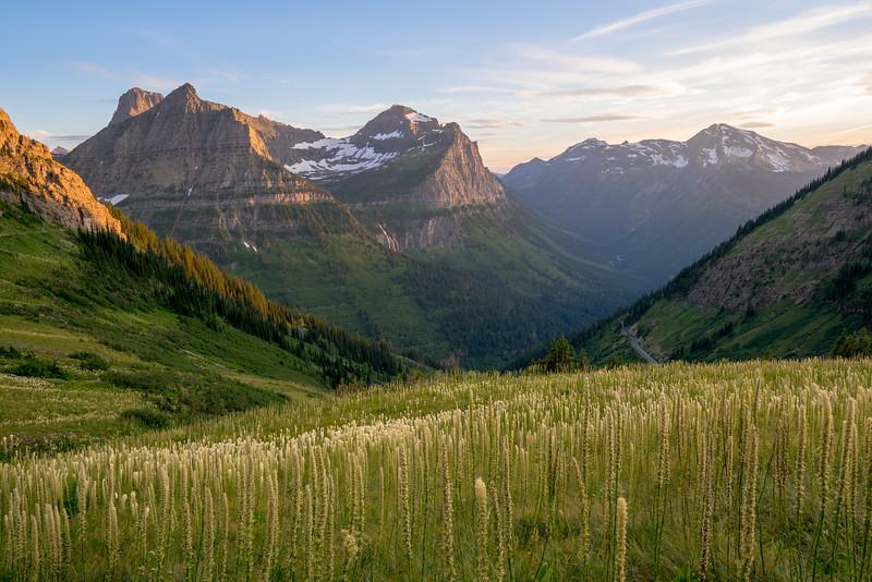 Golden Glacier Sunset