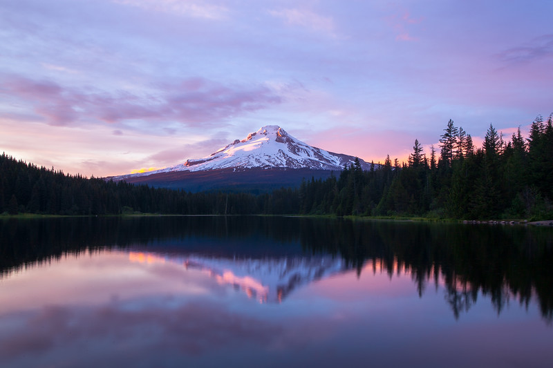 Cotton Candy Skies Over Mt. Hood