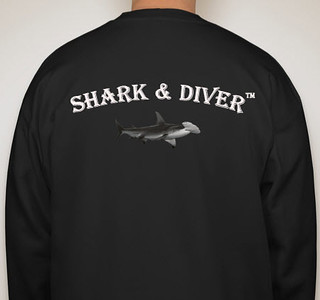 Shark & Diver Black Sweatshirt $45.00 Email to purchase.
