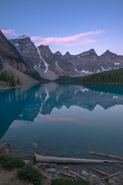 Moraine Blue Hour Reflections