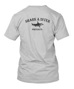 Shark & Diver Portraits T-Shirt (Hanes). Email to order $29.95 plus shipping.