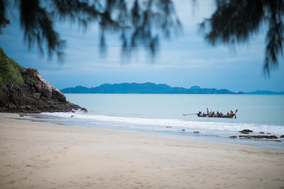 Local sea gypsies cruising the shores of Koh Lanta