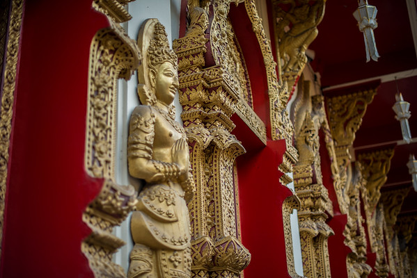 Intricate architecture in Chiang Mai, Thailand