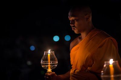 Monk at Yi Peng Festival, Chiang Mai