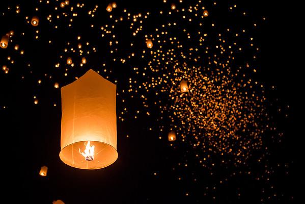 Yi Peng Lantern Festival, Chiang Mai