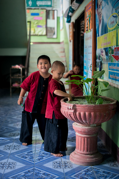 Students at a rural Thai School