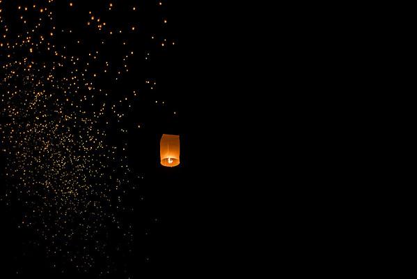 One of Thousands, Yi Peng Lantern Festival, Chiang Mai