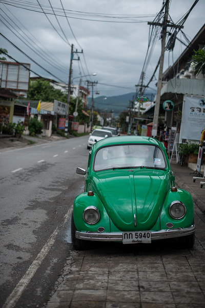 Old VW in the old city of Chiang Mai