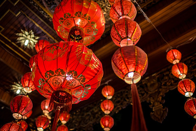 Chinese New Year lanterns, Thai Style. Chiang Mai, Thailand