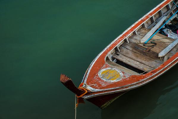 Fisherman's boat in Lanta Old Town, Koh Lanta
