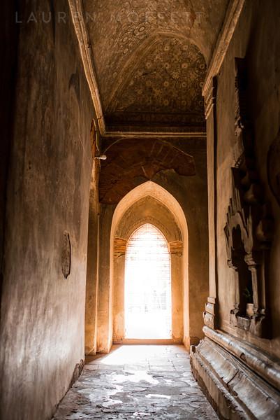 Temple walls in Old Bagan, Myanmar (Burma)