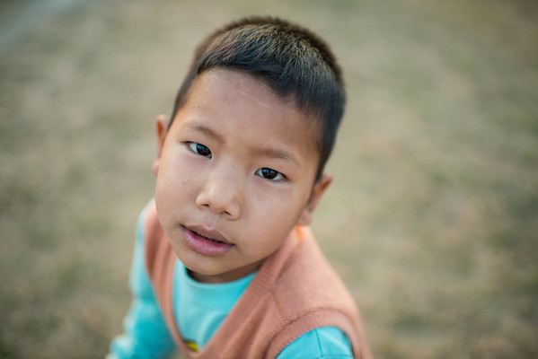 Sweet little student in San Pa Tong, Thailand