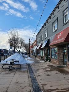Main Street Leduc in Winter