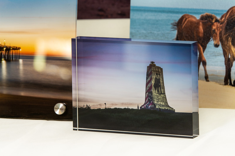 An Acrylic Block is a unique alternative to the desktop picture frame. It gives almost a 3D feel to your photo.