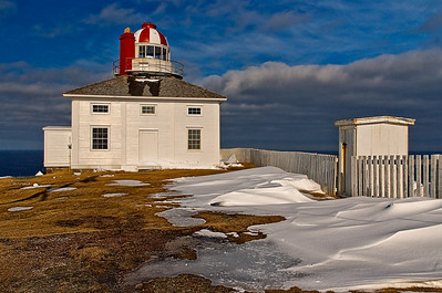 Cape Spear Lighthouse in Winter