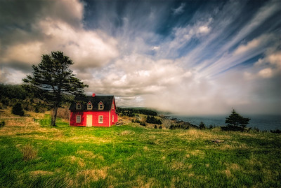 Red Saltbox House, The Cribbies, Tors Cove
