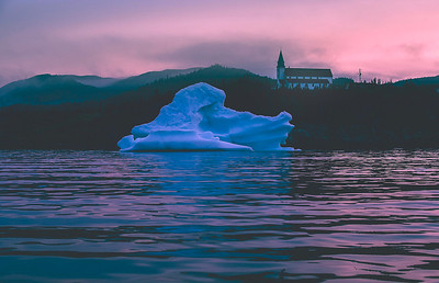 Iceberg near Old Bonaventure Church