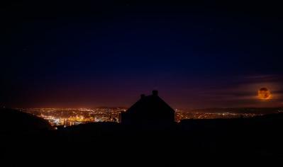 Super Moon over St. John's, NL