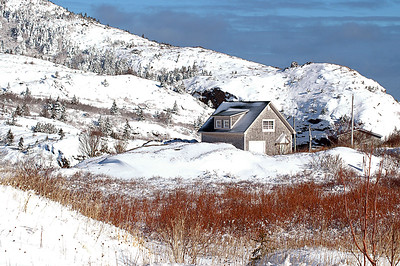 Quidi Vidi Snow Covered Hills