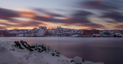 St. John's  Winter Sunset