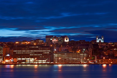 St. John's City Skyline at Twilight