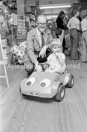 Toy presentation at Baker's in Buckingham Street, Sep 1973