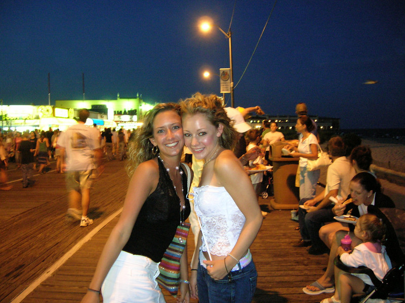 Melissa and Casey on the Ocean City boardwalk.